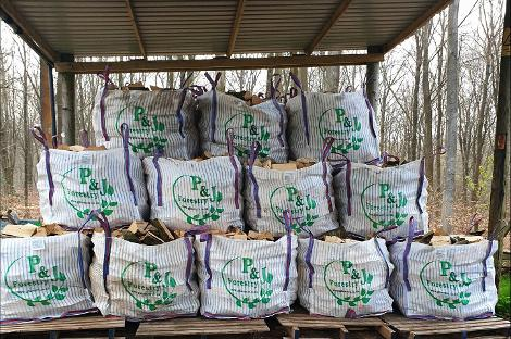 1m2 bag of firewood barn stored